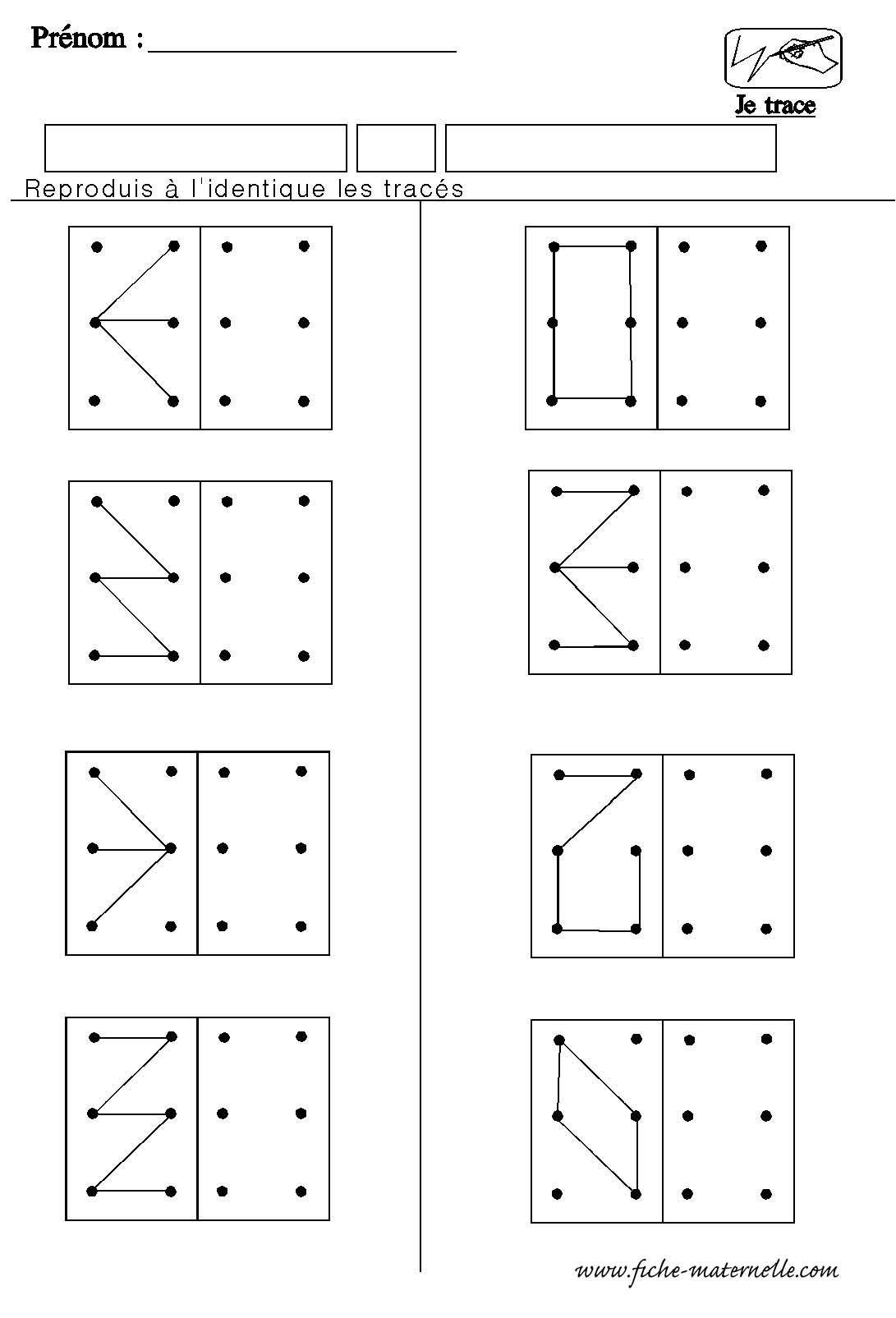 Structuration De L'espace En Maternelle: Géométrie Refaire encequiconcerne Évaluation Graphisme Ms