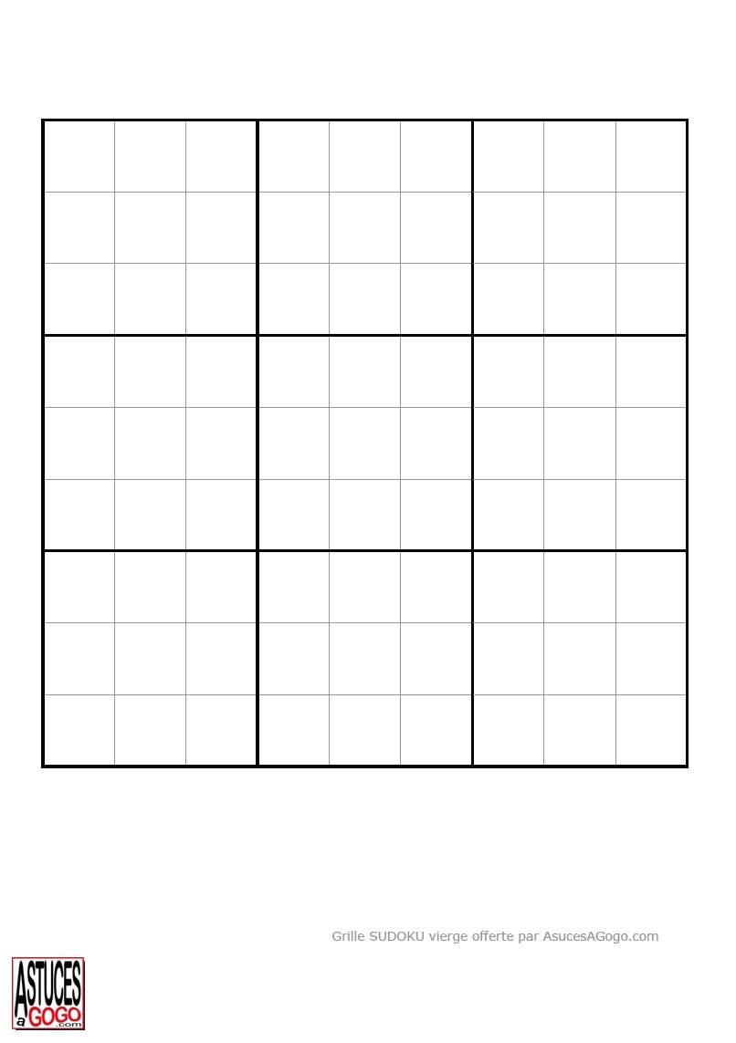 Sudoku A Imprimer - Junglekey.fr Image dedans Sudoku Vierge