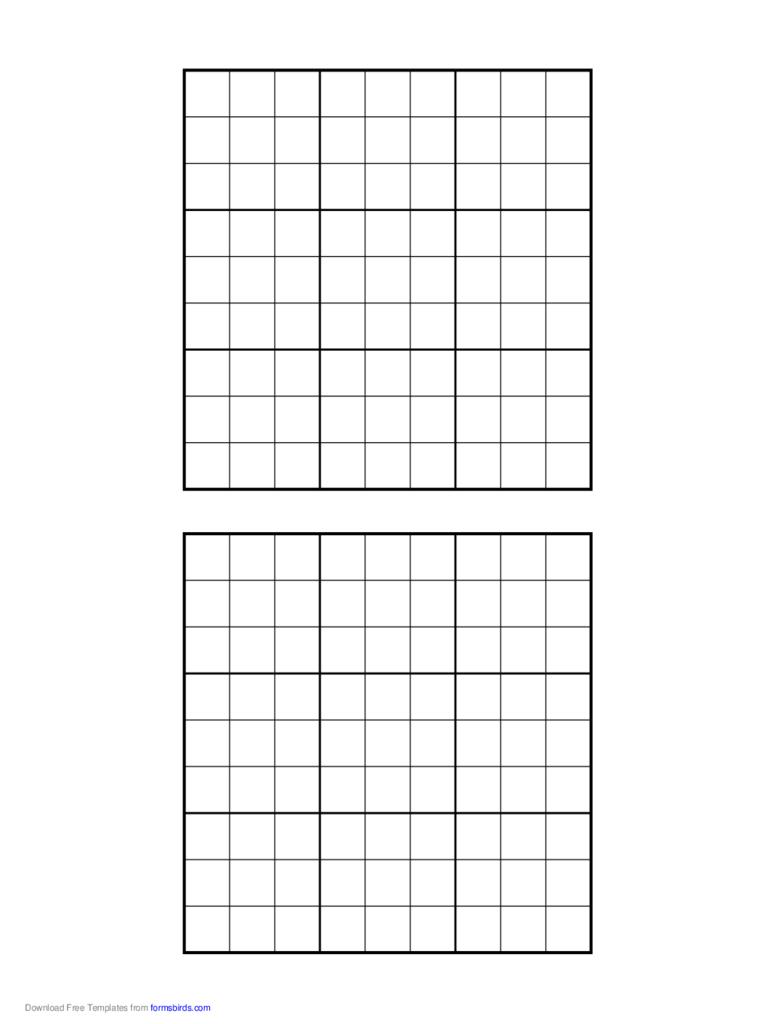 Sudoku Blank Templates - Final.luckincsolutions dedans Sudoku Vierge