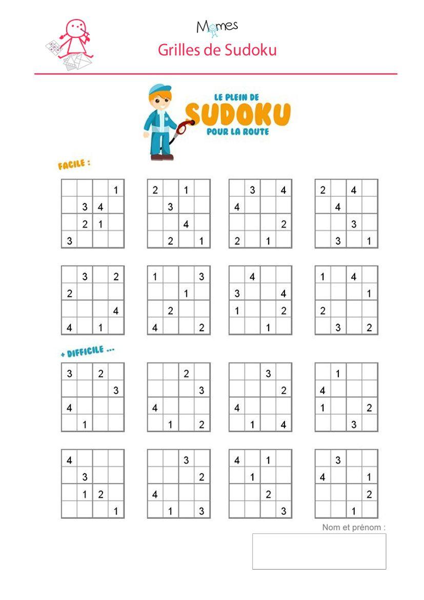 Sudoku Enfant À Imprimer   Sudoku Enfant, Sudoku Et Grille concernant Sudoku Grande Section
