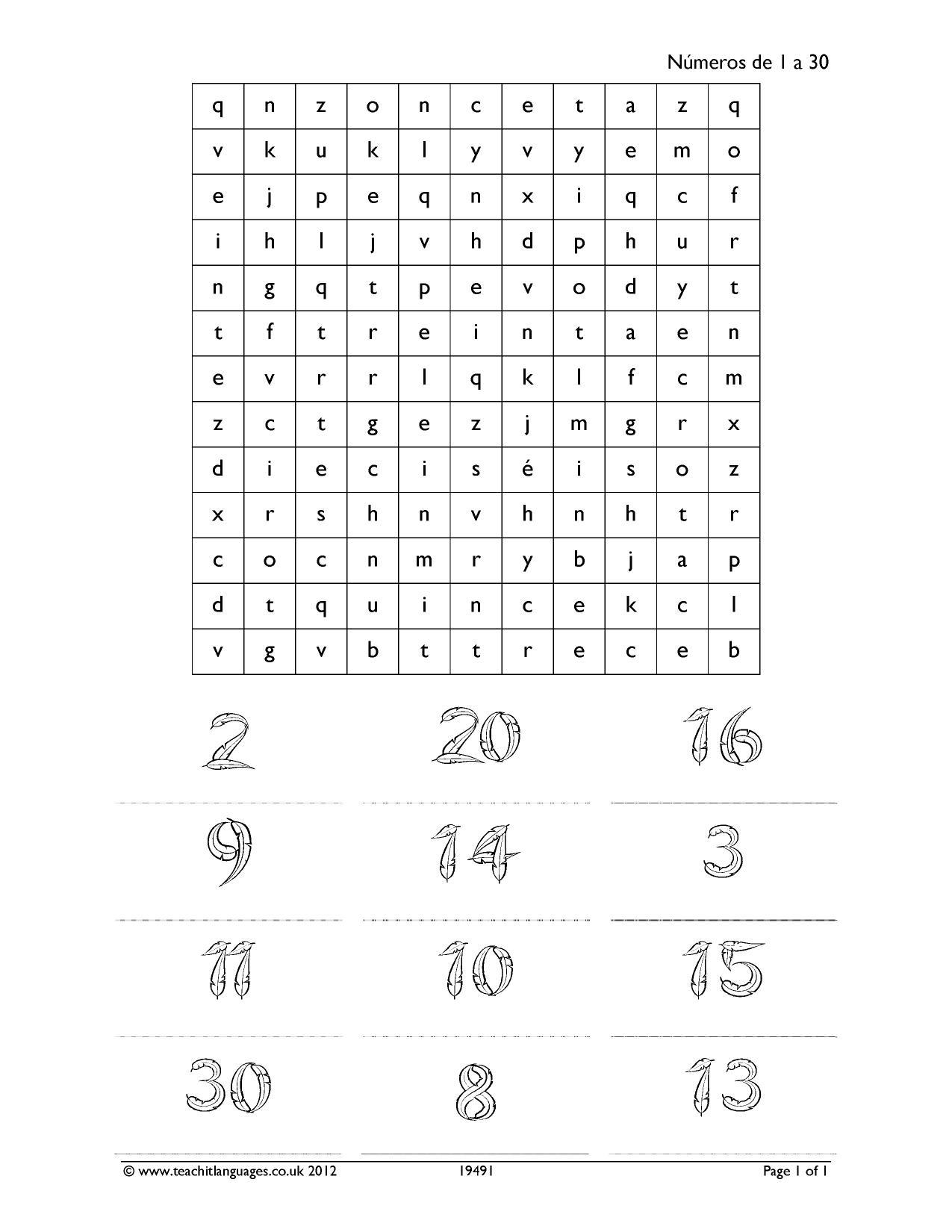 Sudoku In Spanish Worksheet   Printable Worksheets And pour Sudoku Cm2 À Imprimer