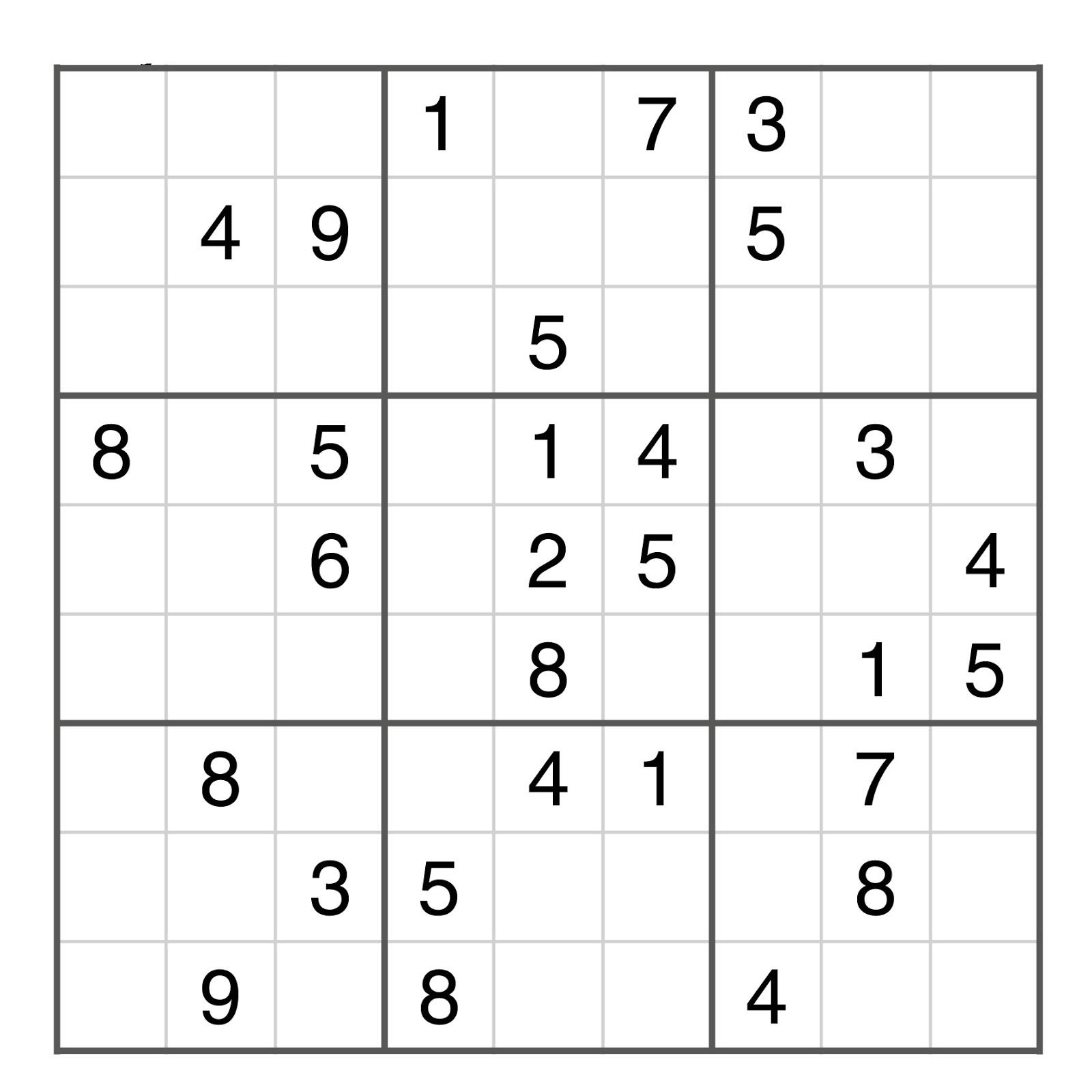 Sudoku Moyen pour Sudoku Gratuit En Ligne Facile
