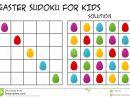 Sudoku Pour Des Enfants Avec La Solution, Thème Saisonnier à Sudoku Facile Avec Solution