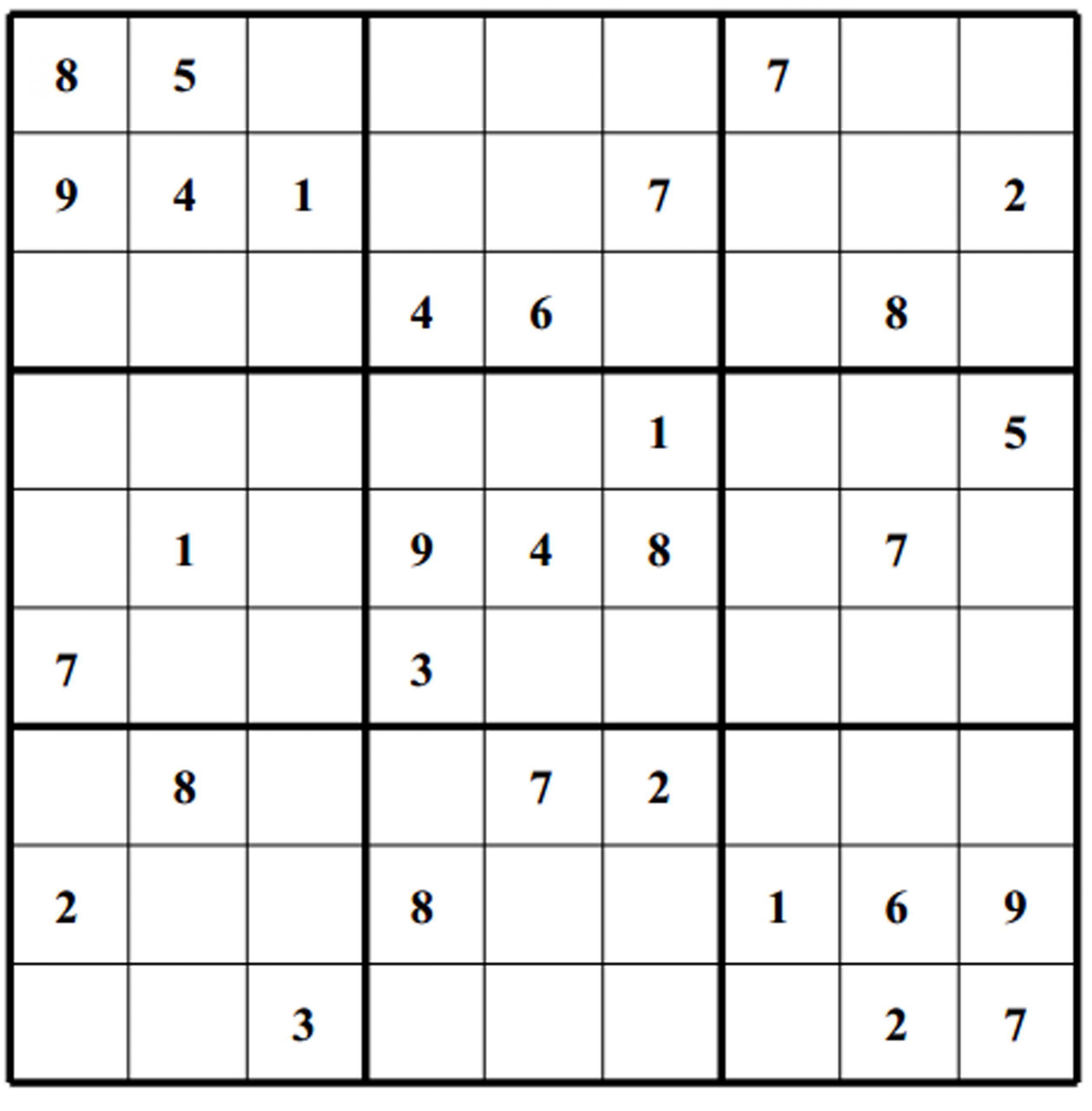Sudoku Puzzles   Free Sudoku Puzzles   Page 4 avec Sudoku Facile Avec Solution