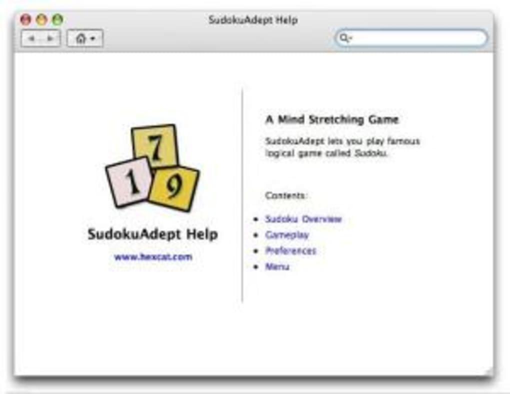 Sudokuadept Pour Mac - Télécharger pour Logiciel Sudoku Gratuit