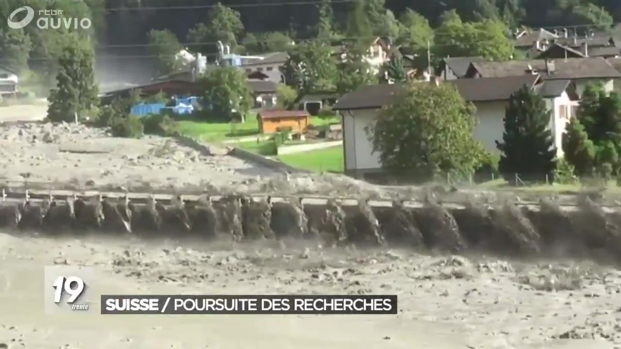 Suisse : Poursuite Des Recherches Sous Les Coulées De Boue - Jt 19H30 -  24/08/2017 concernant Cauchemar Poursuite