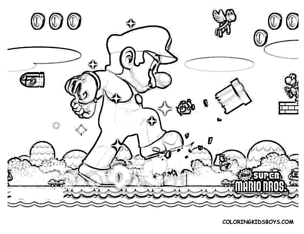 Super Mario Bros #11 (Jeux Vidéos) – Coloriages À Imprimer encequiconcerne Jeux Gratuit De Dessin A Colorier