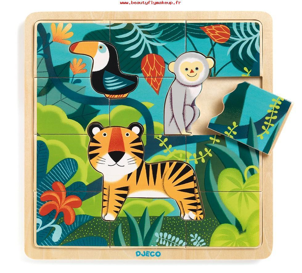 Super Prix Djeco Enfants Puzzle Puzzlo Jungle Jeux Éducatifs pour Jeux De Puzzle Enfant