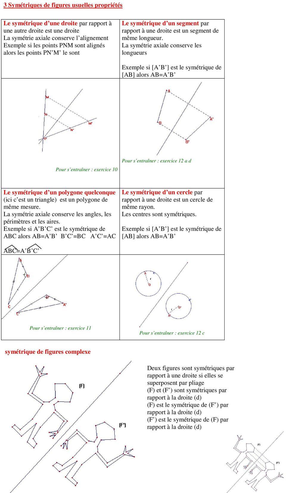 Symétrie Axiale. La Médiatrice D Un Segment Est La Droite avec Symétrie Axial
