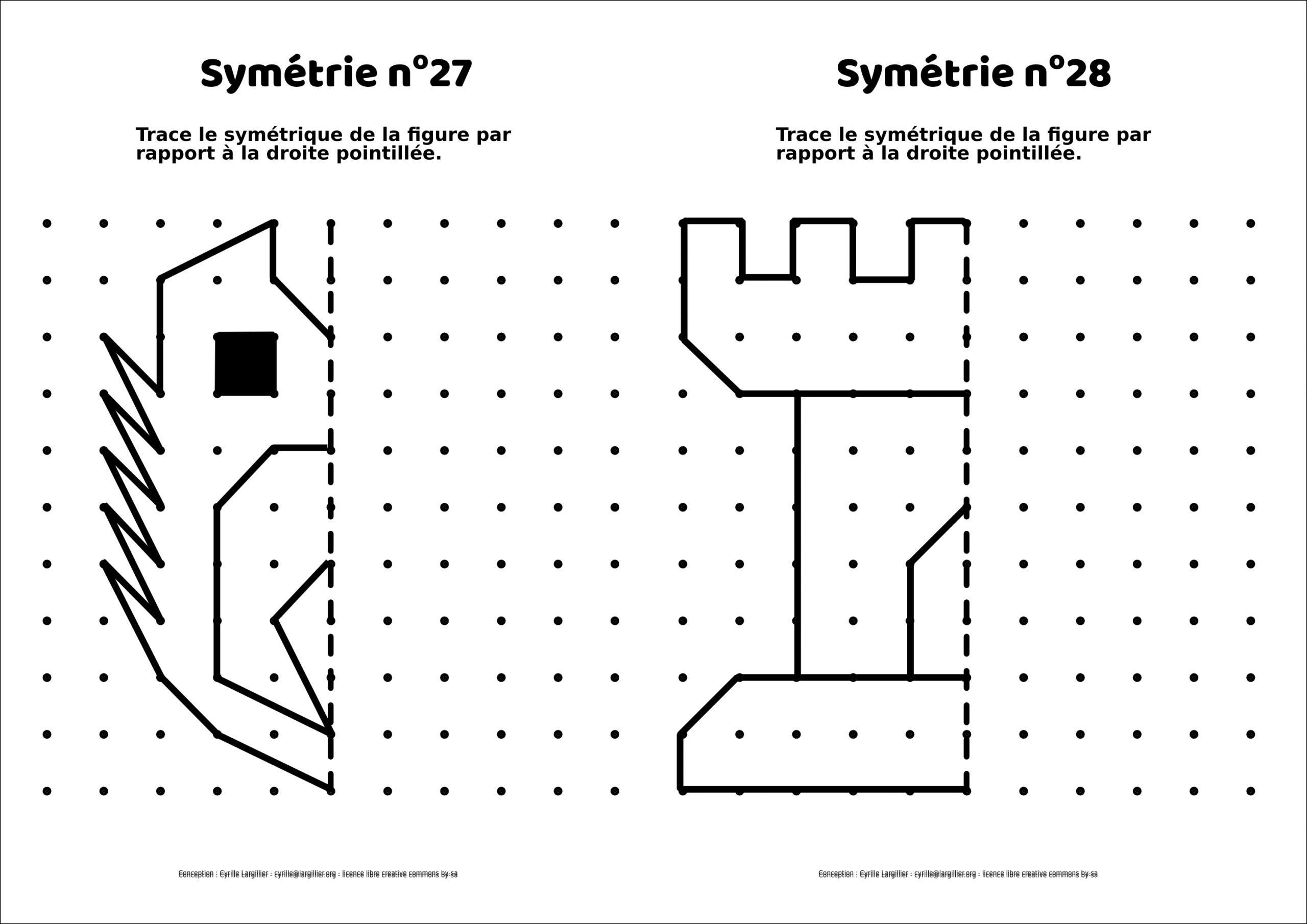 Symétrie Ce : 20 Mini-Fiches – Le Retour – Cyrille Largillier dedans Symétrie Ce1 Ce2