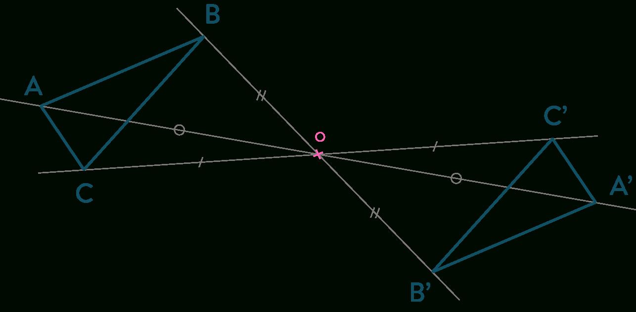 Symétrie Centrale Et Axiale : Fiche De Cours - Mathématiques à Symétrie Axial