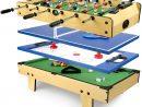 Table De Jeu 4 En 1 Baby-Foot, Billard Tennis De Table à Jeu De 4 Images