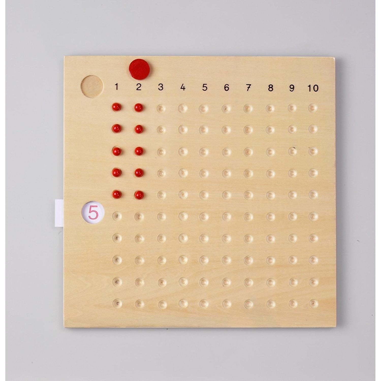 Table De Multiplication Montessori pour Jeux Educatif Table De Multiplication
