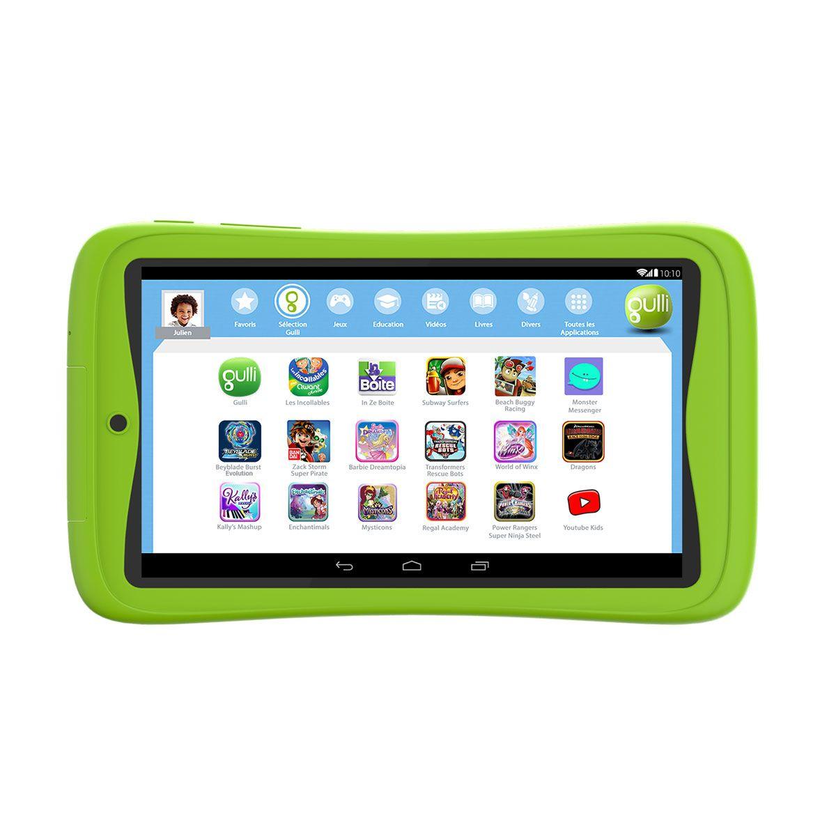 Tablette Gulli 7' Connect Gulli Pour Enfant De 4 Ans À 10 à Tablette Pour Enfant De 4 Ans