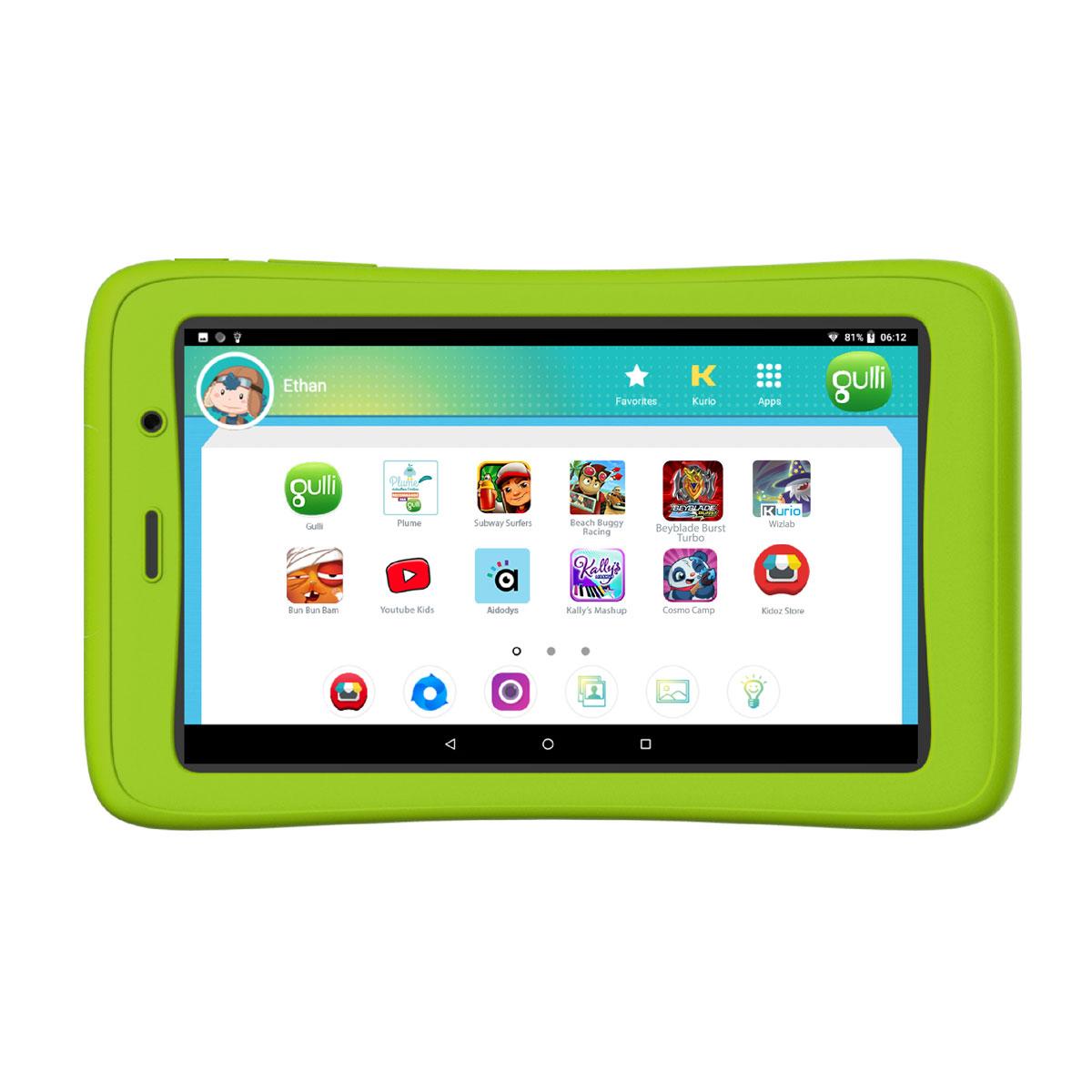 Tablette Kurio Gulli 7' Connect 2 à Tablette Jeux 4 Ans