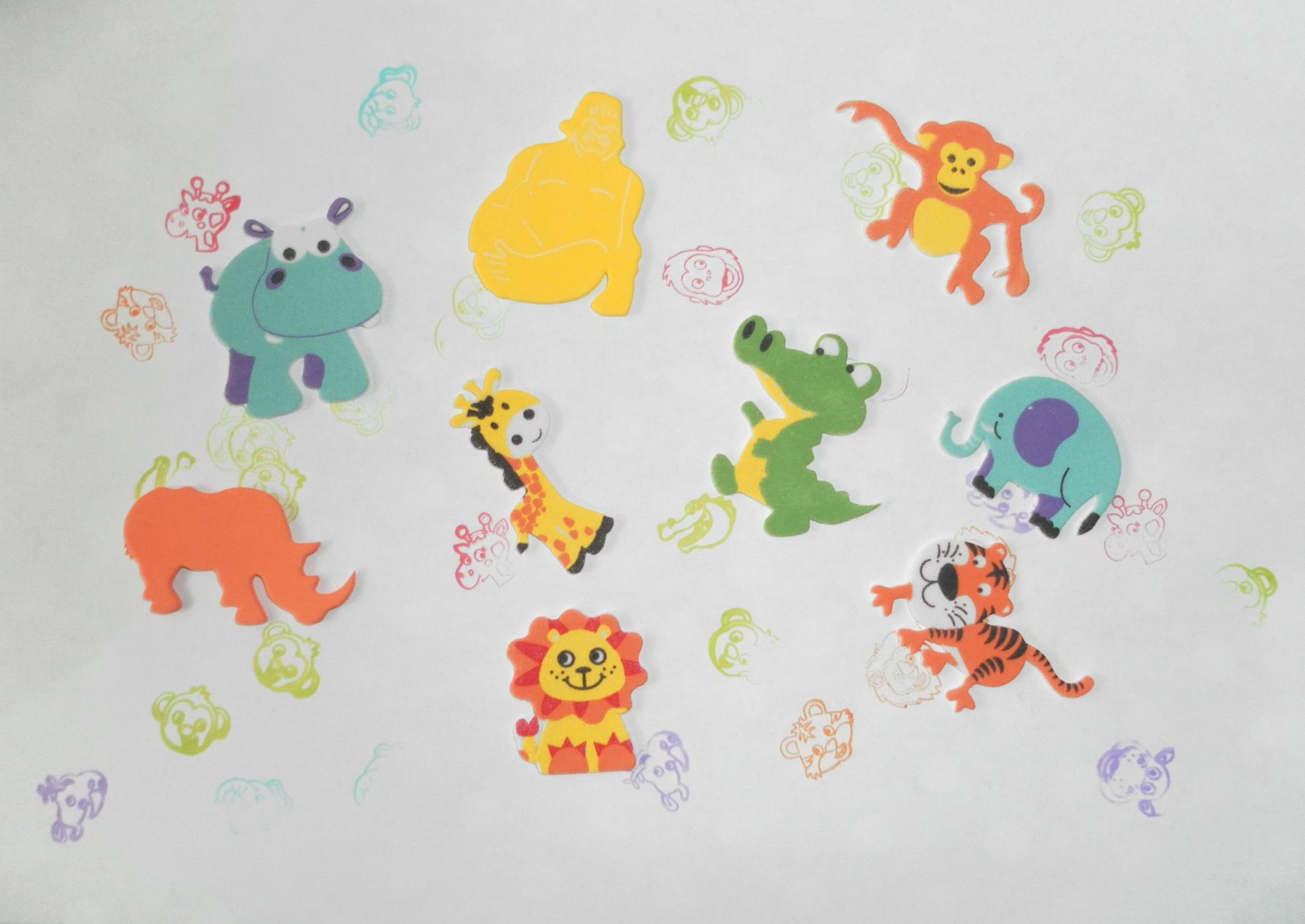 Tampons Et Gommettes Animaux De La Jungle - Assistante avec Animaux De La Jungle Maternelle