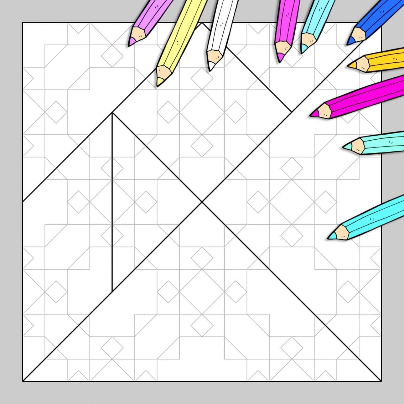 Tangram À Colorier N°11 pour Tangram Grande Section
