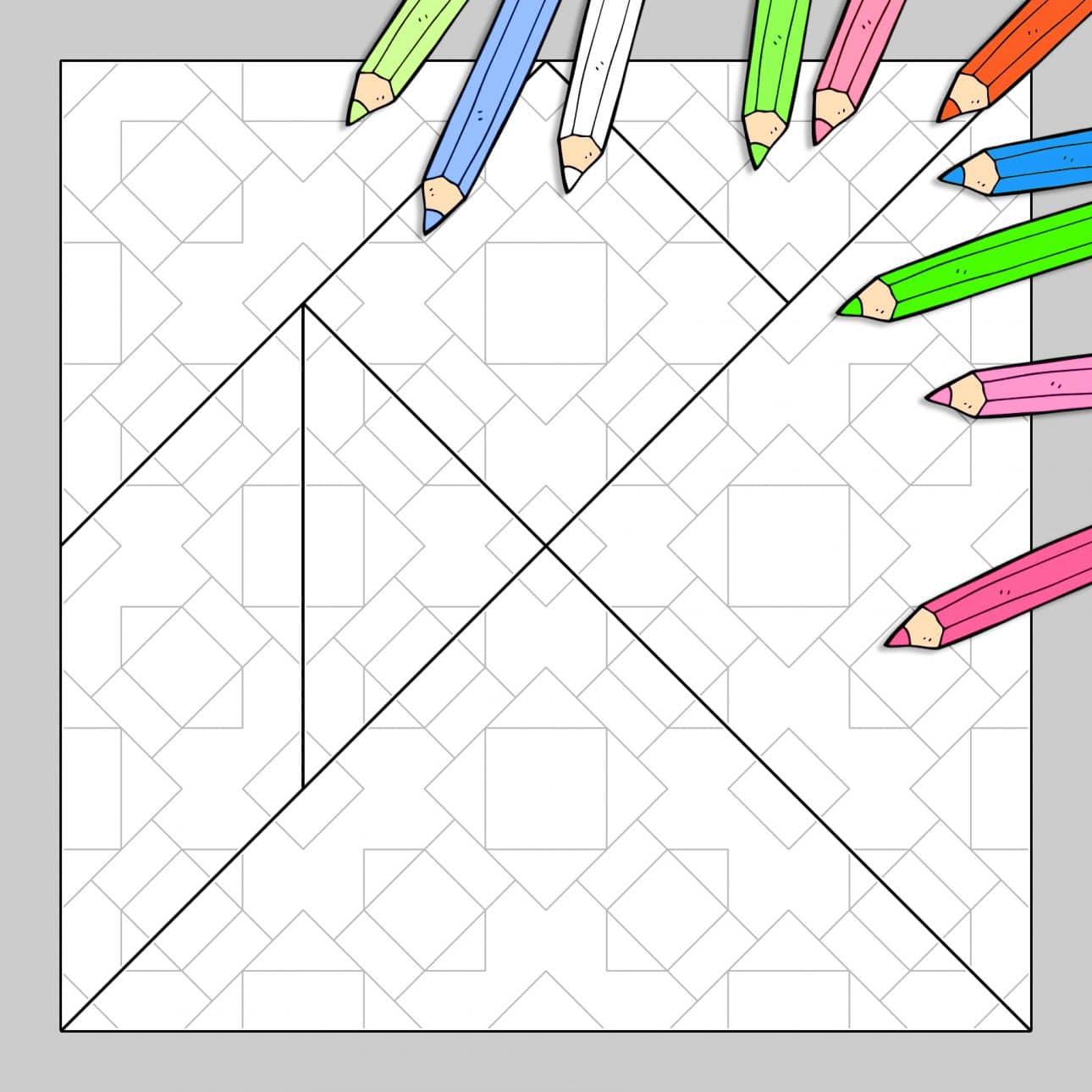 Tangram À Colorier N°24 destiné Tangram Grande Section
