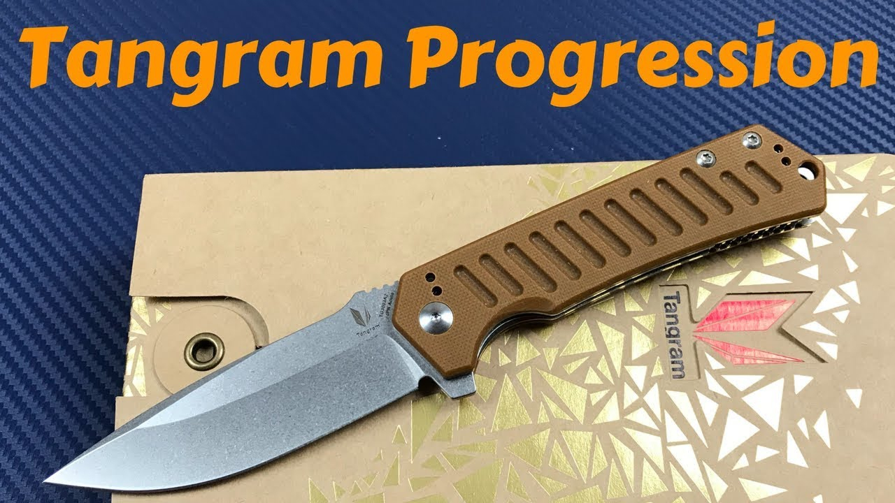 Tangram Progression Linerlock Knife Dirk Pinkerton Design Another Great  Budget Offering intérieur Progression Tangram