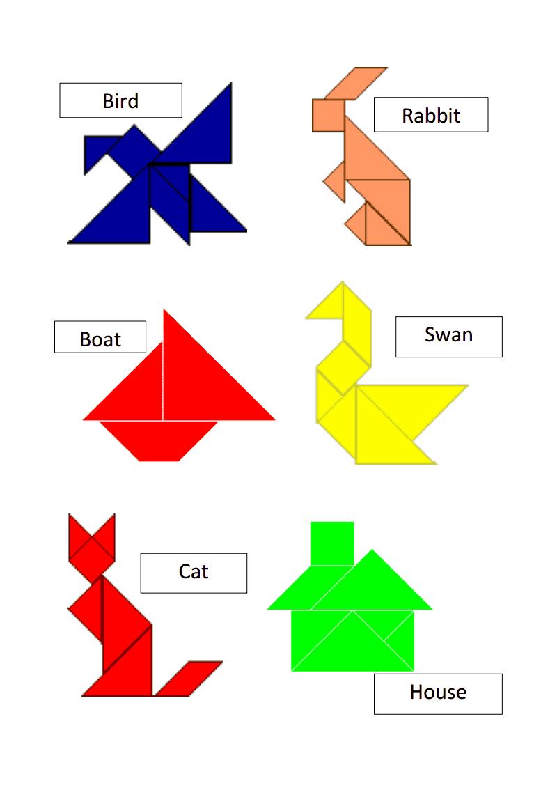Tangram Templates.pdf | Tangram Puzzles, Tangram, Tangram pour Tangram Grande Section