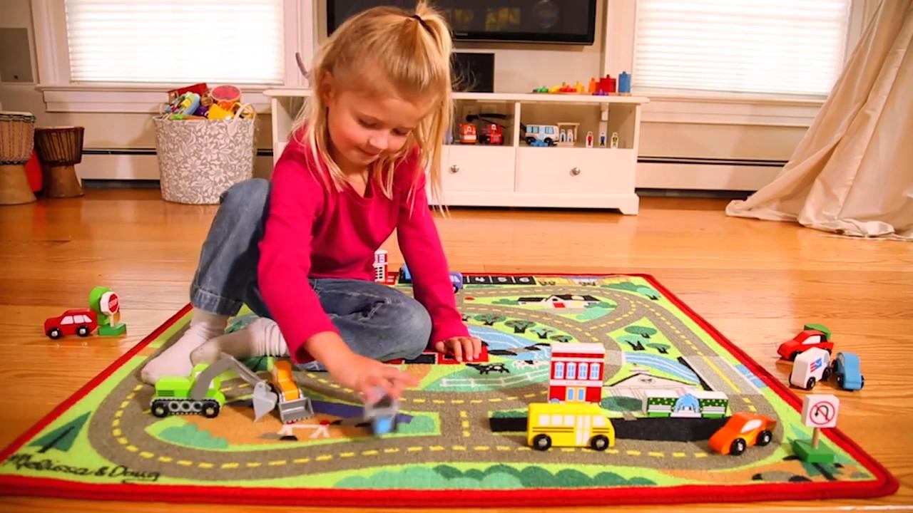 Tapis De Jeu Voiture - Jouet Enfant - Melissa Et Doug - Lapouleapois.fr destiné Jeux Pour Voiture Bébé