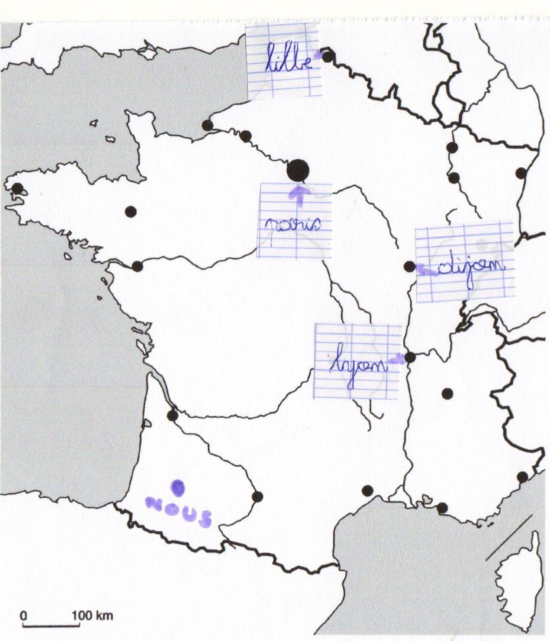 Télécharger Carte De France À Compléter Pdf   Carte De dedans Carte De France Ce1