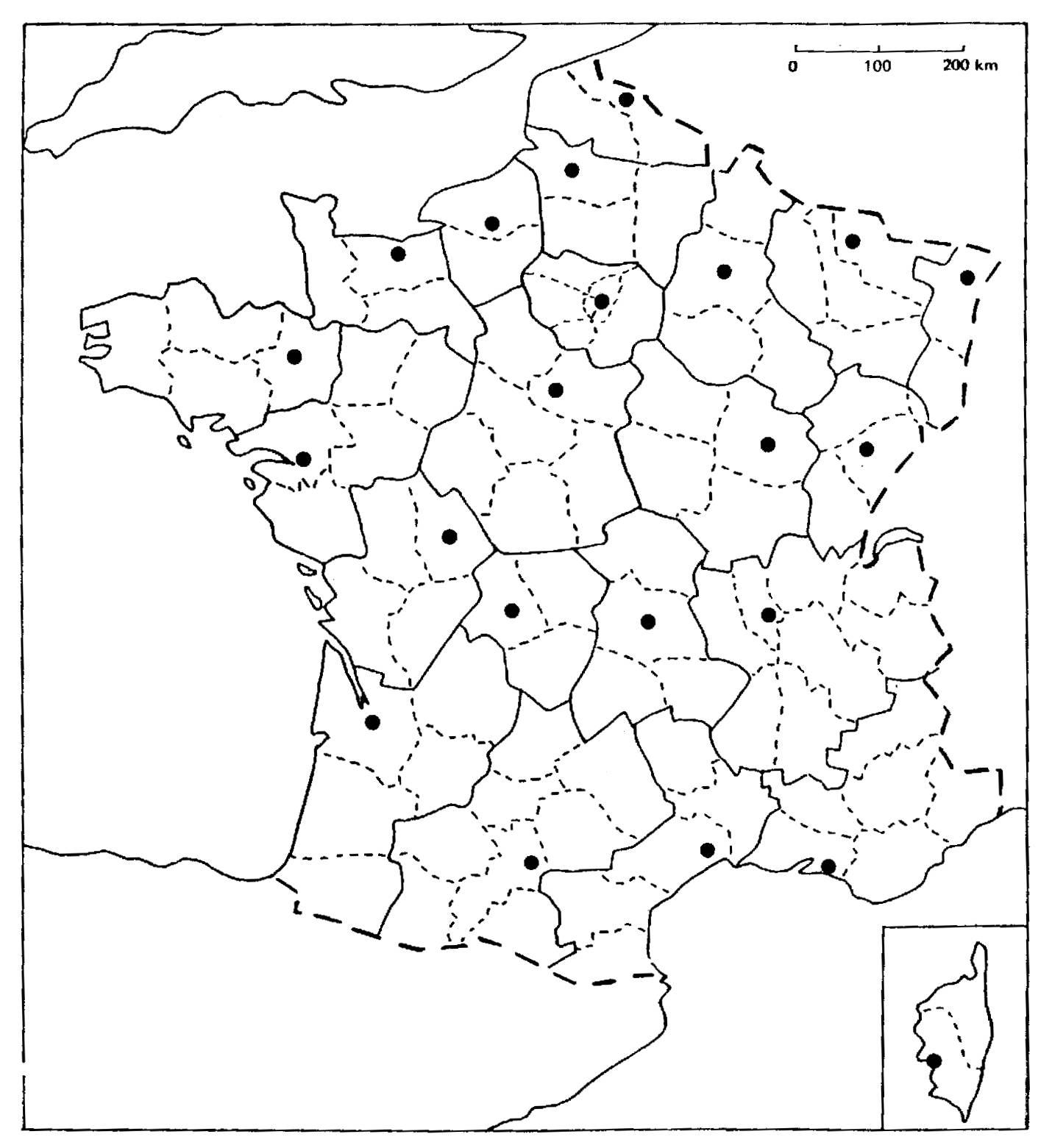 Télécharger Carte De France Vierge À Compléter Pdf   Carte avec Exercice Carte De France