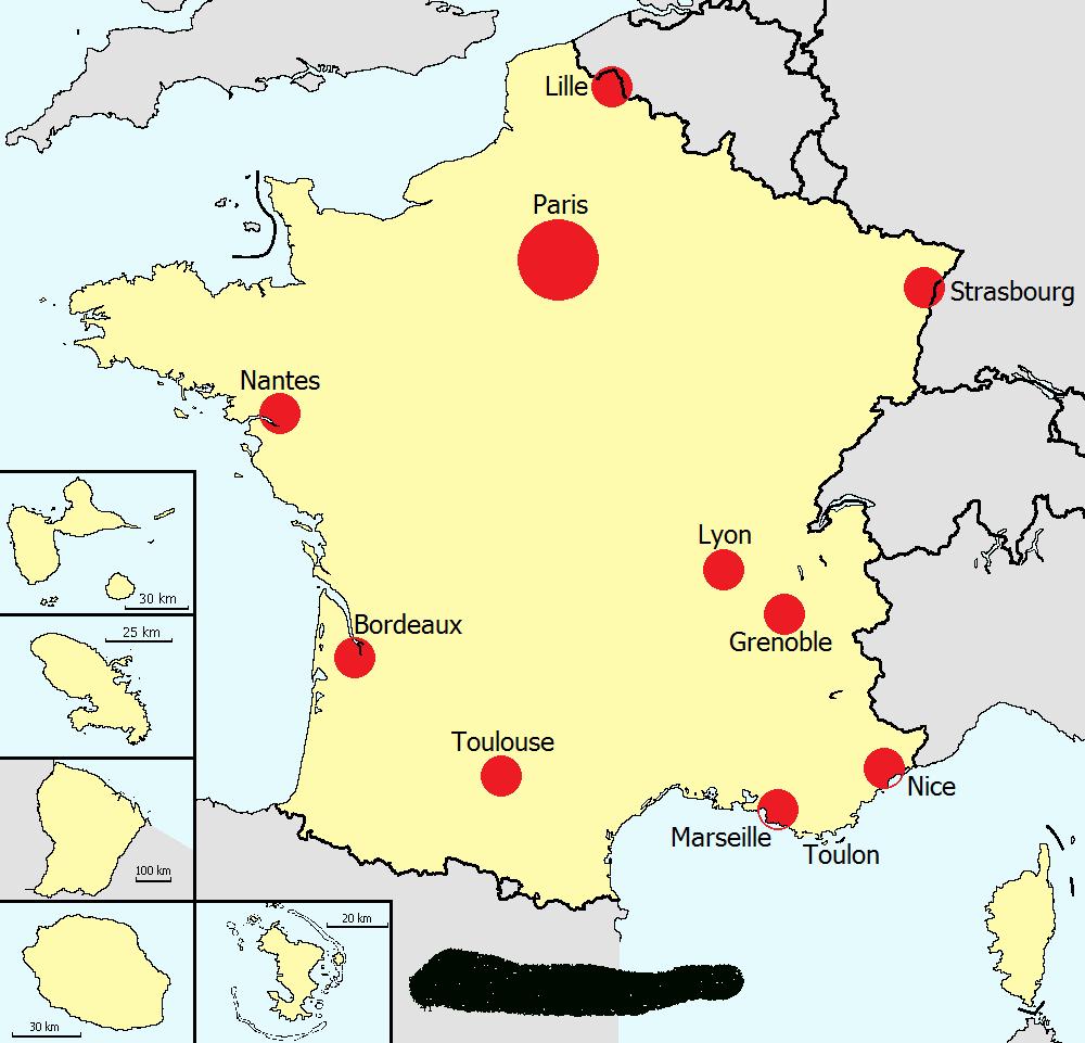Télécharger Carte Des Grandes Villes Françaises Pdf concernant Carte De France Avec Grandes Villes