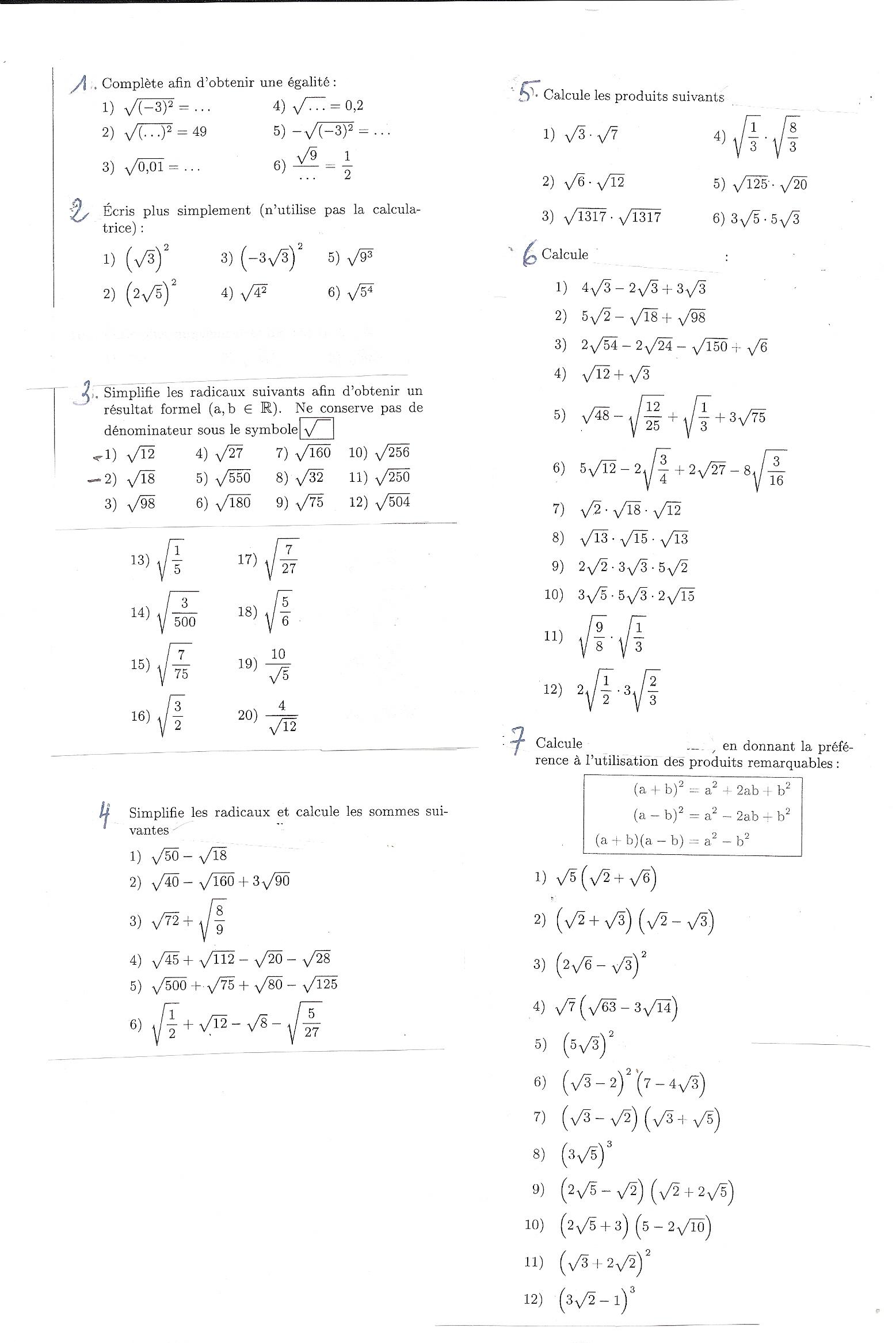 Télécharger Controle Sur Les Puissances 3Eme Pdf Pdf encequiconcerne Exercice De Math Sur Les Puissances