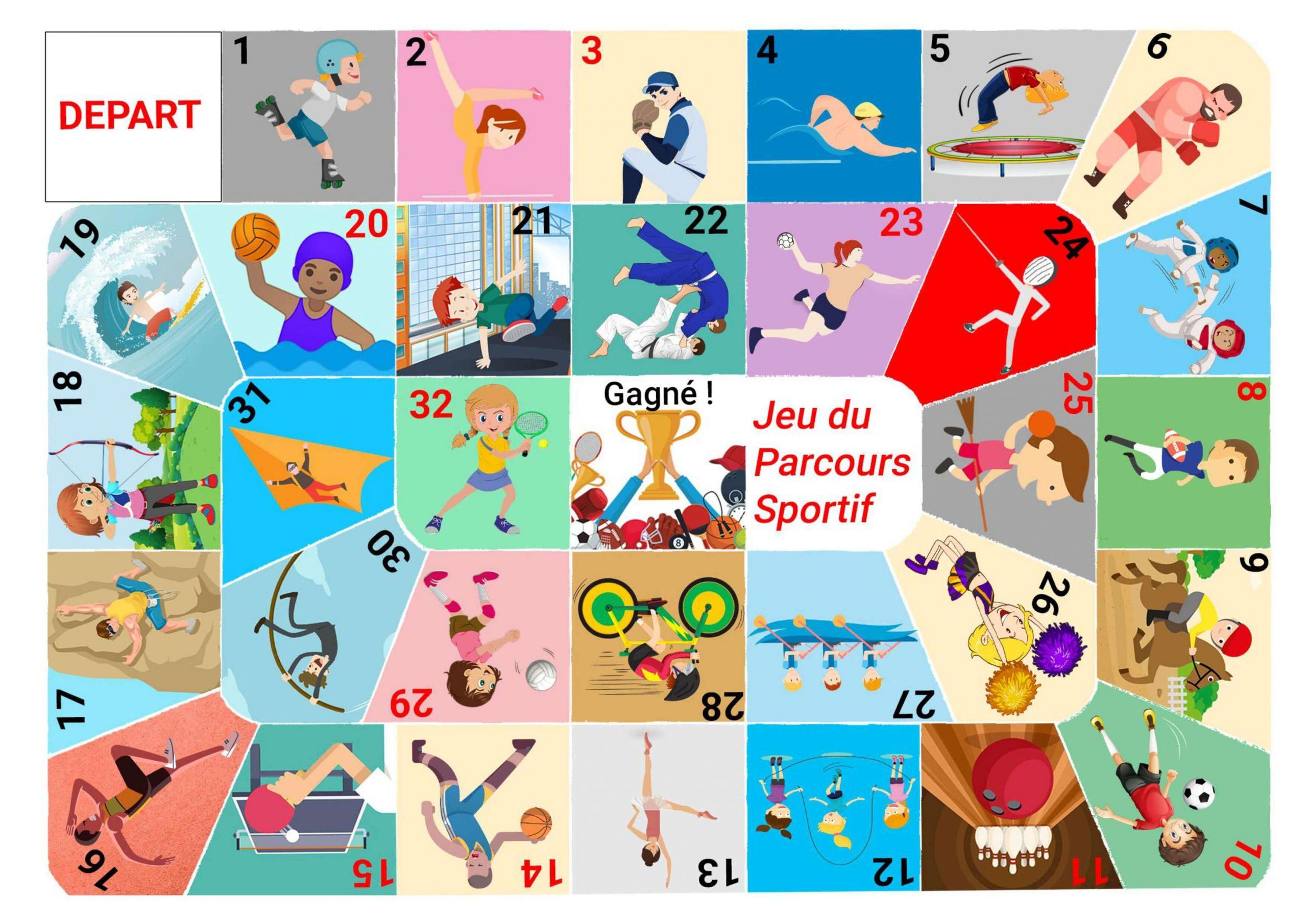 Télécharger] Jeu De Société: Le Parcours Sportif - Tous Au Web dedans Jeux De Cm1 Gratuit