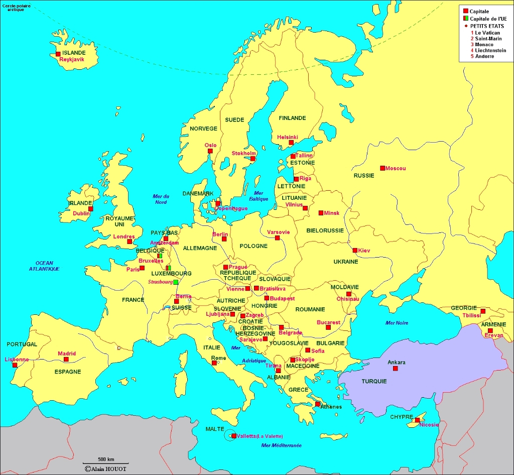 Télécharger Liste Des Pays D'europe Et Leurs Capitales Pdf encequiconcerne Capital De L Union Européenne