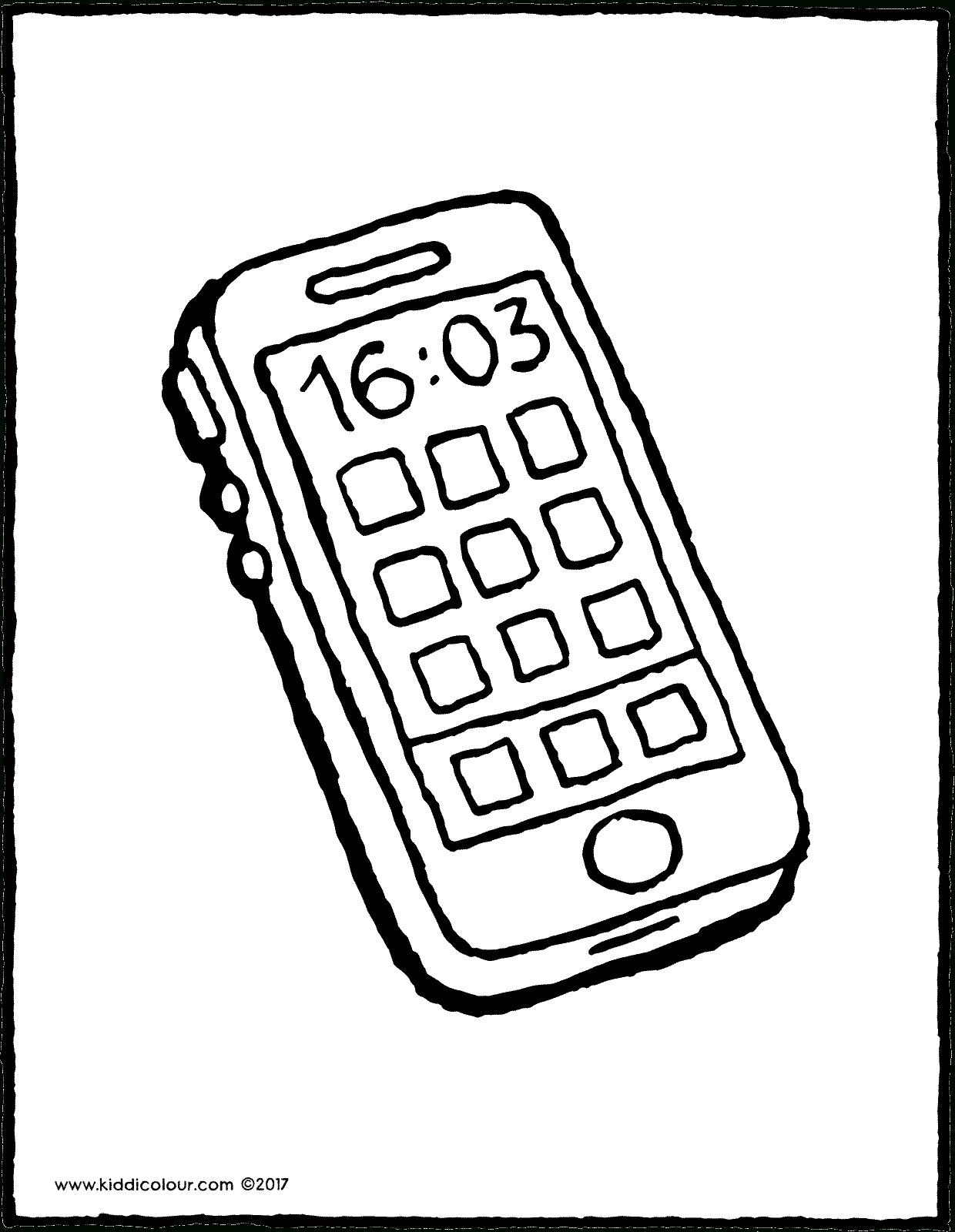 Téléphone Portable - Kiddicoloriage à Dessin À Colorier Sur L Ordinateur