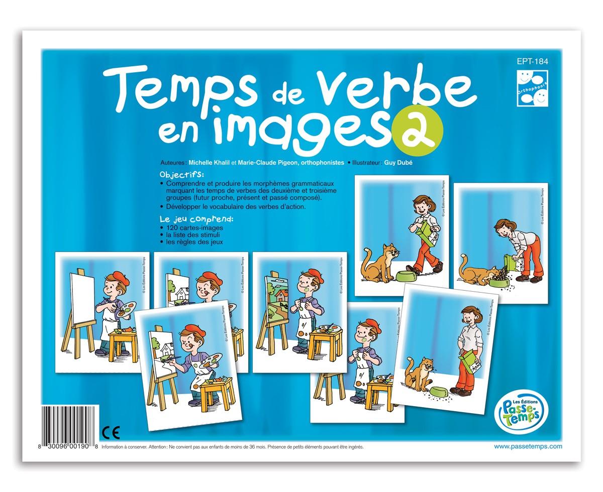 Temps De Verbe En Images 2 dedans Verbe Jeux