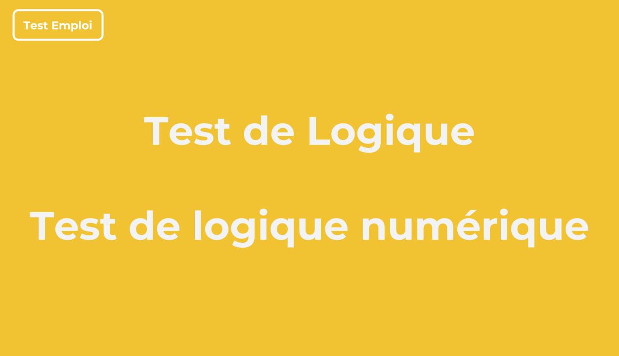 Test De Logique Numérique Pdf Avec Corrigé - Tests Emploi destiné Exercice De Logique Gratuit