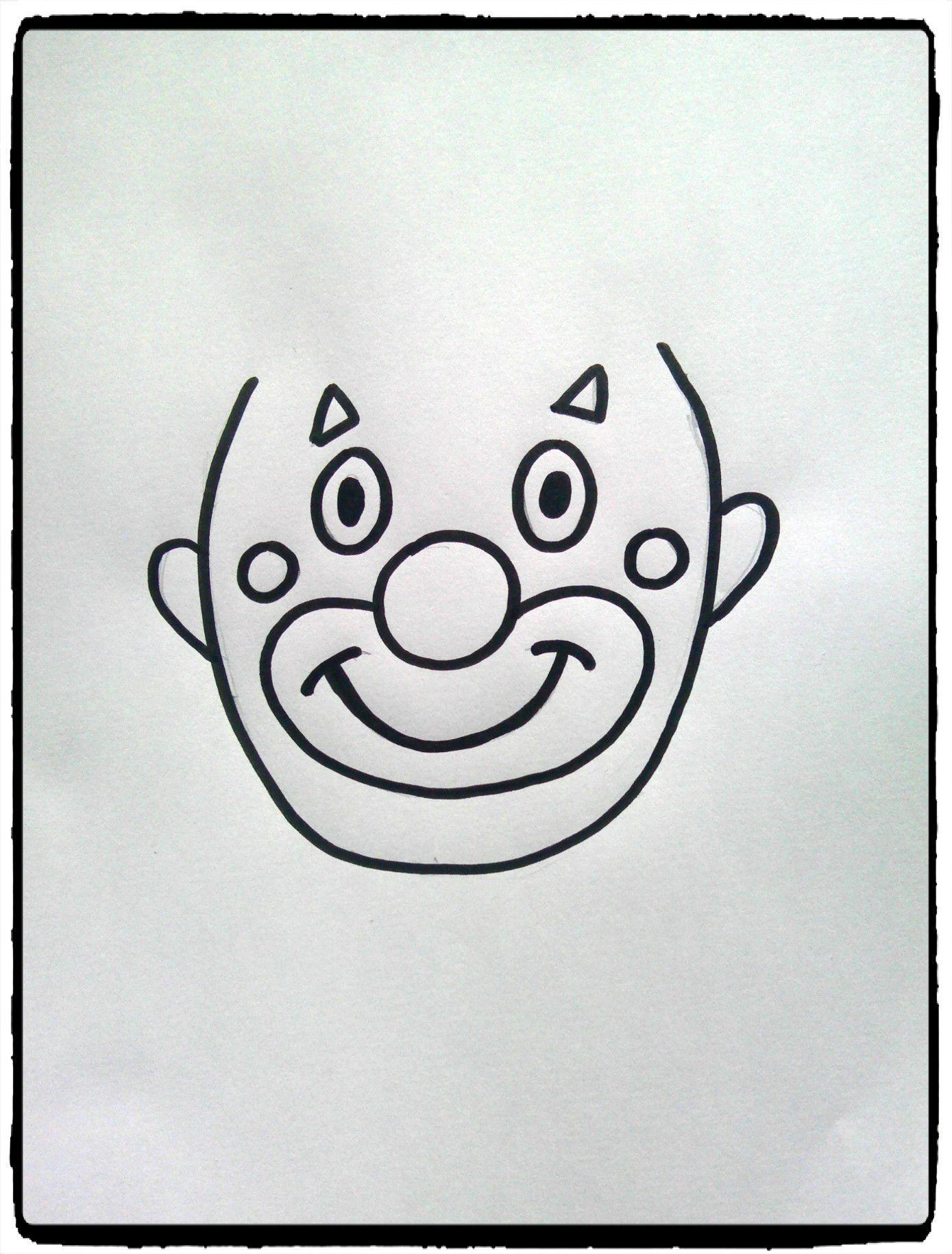 Têtes De Clowns En Empreintes De Mains - | Tete De Clown concernant Coloriage Tete De Clown