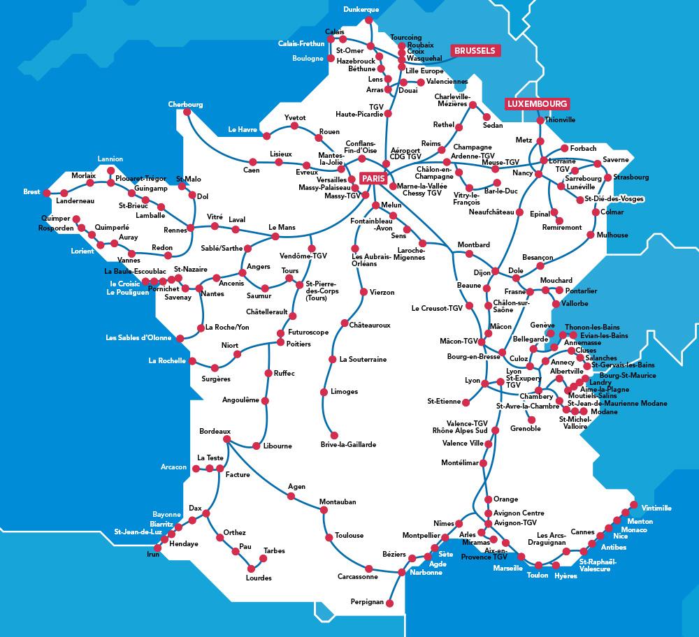 Tgv Train Tickets - Oui.sncf dedans Grande Carte De France