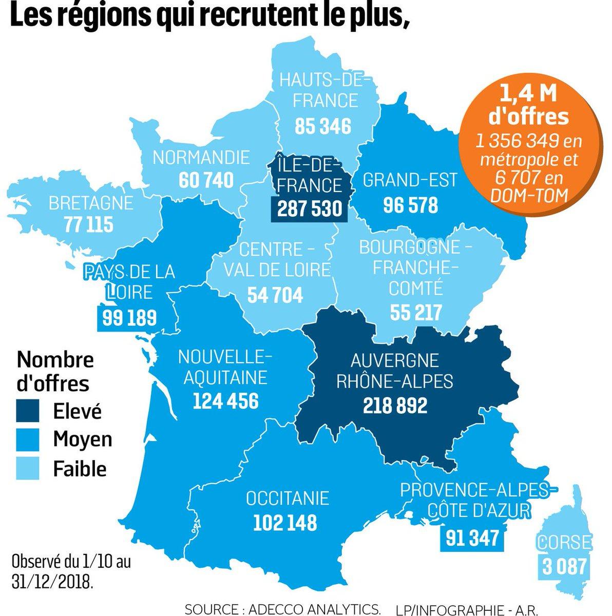 "The Adecco Group On Twitter: ""our #adeccoanalytics Data Used tout Combien Yat Il De Region En France"