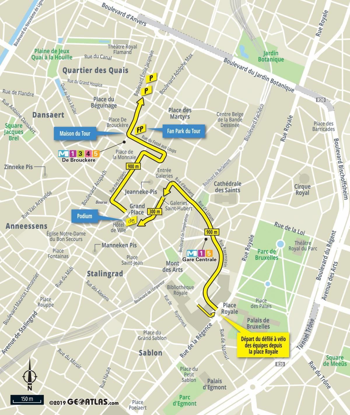 The Tour De France 2019 Race Route On Open Street Maps avec Gap Sur La Carte De France