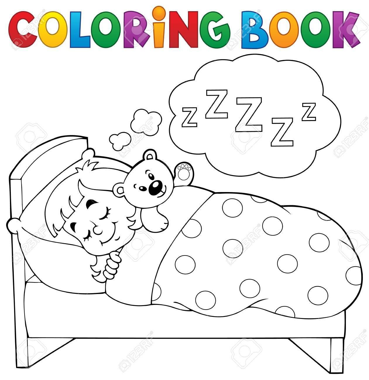 Thème De Livre De Coloriage Enfant Endormi destiné Cahier De Coloriage Enfant