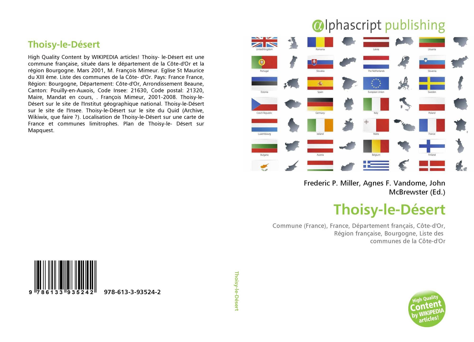 Thoisy-Le-Désert, 978-613-3-93524-2, 6133935243 ,9786133935242 destiné Listes Des Départements Français