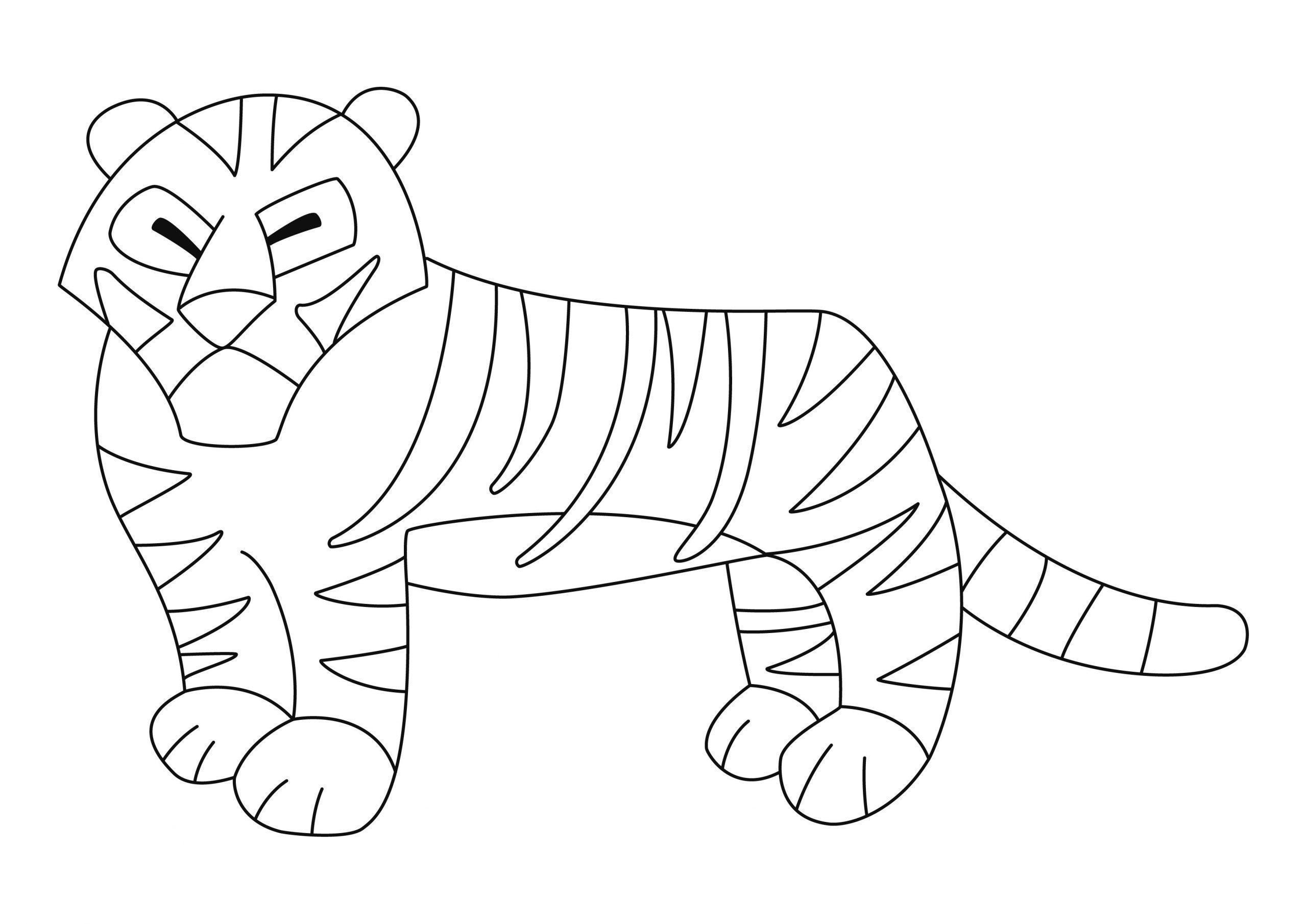 Tigre 01 - Motif À Décorer encequiconcerne Coloriage Bébé Tigre