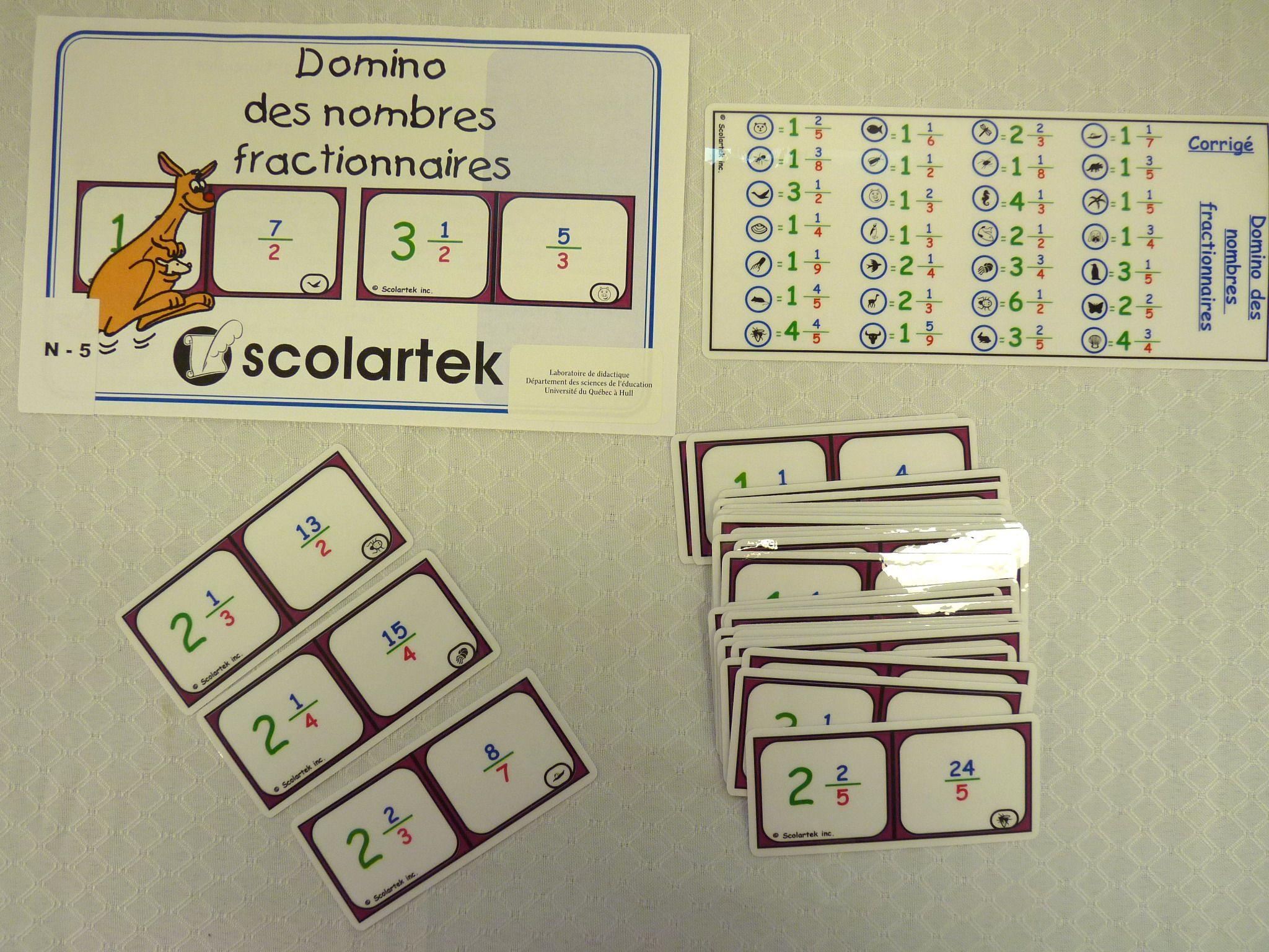 Titre: Domino Des Nombres Fractionnaires Cote: Jeu 3050 intérieur Jeu Du Domino