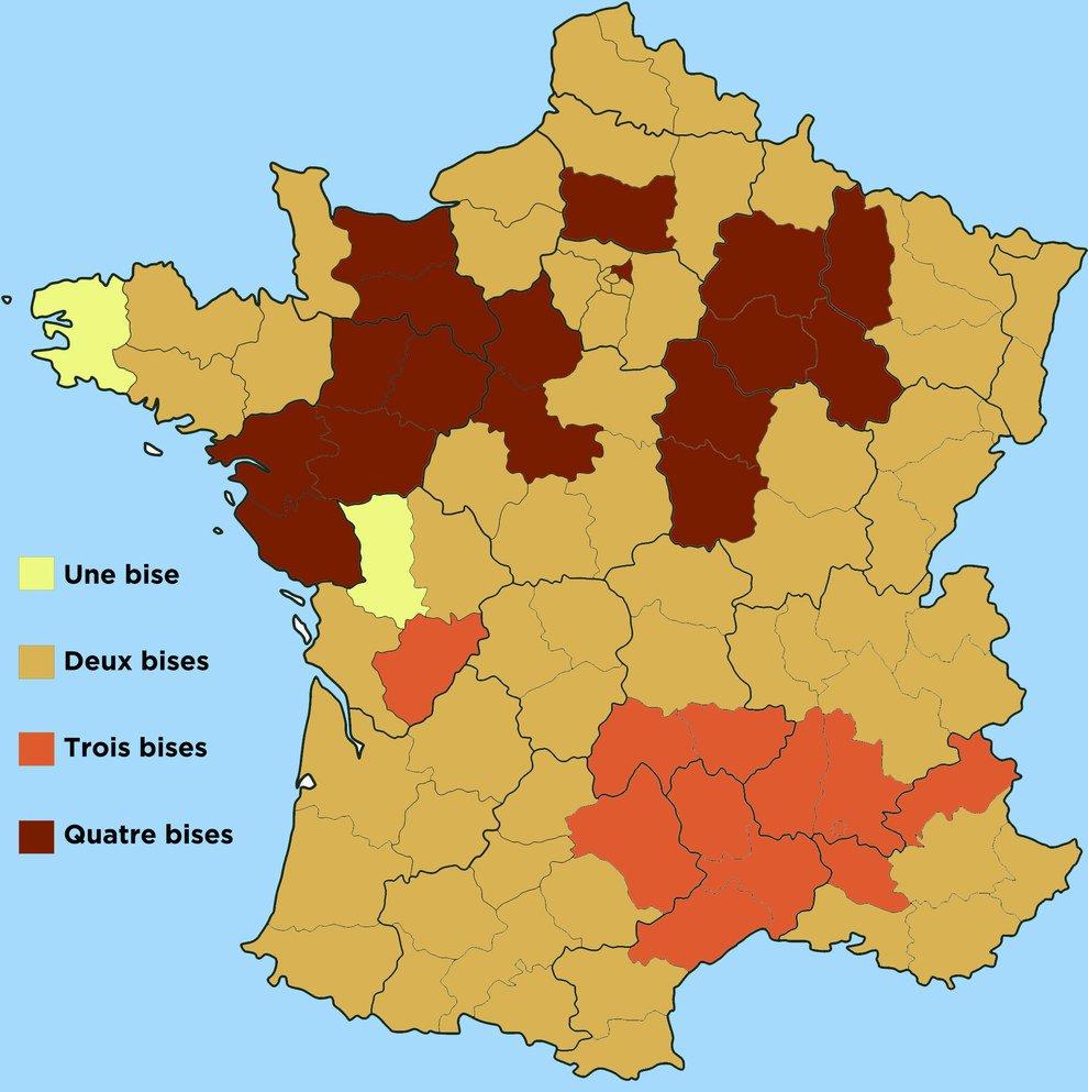 "Tom Chivers On Twitter: ""interesting Map Of How Many destiné Combien Yat Il De Region En France"