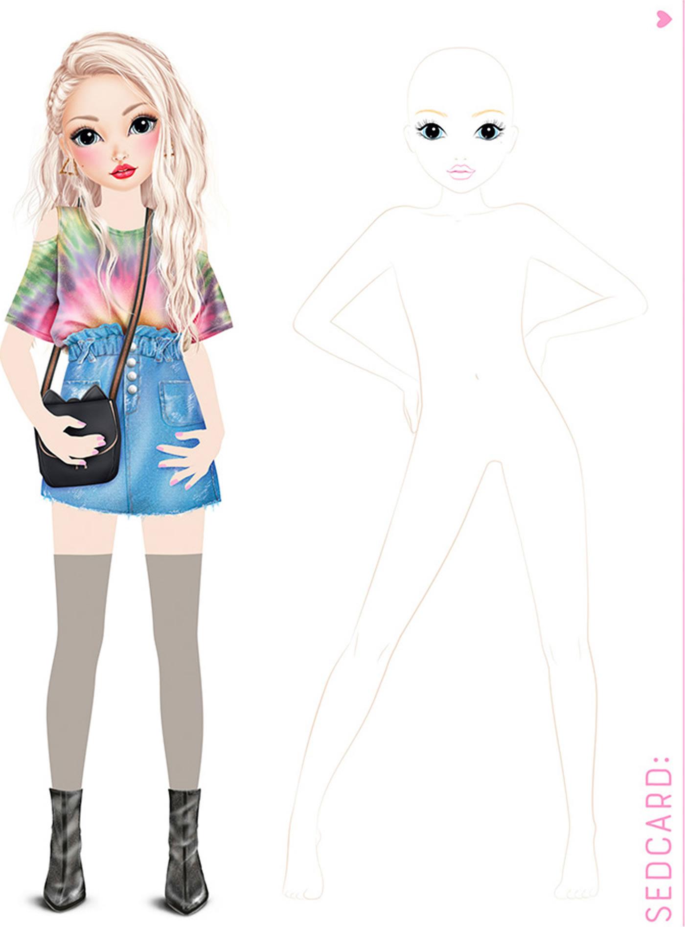 Topmodel Create Your Topmodel Jill Et Lexy Livre À Colorier tout Top Model À Colorier