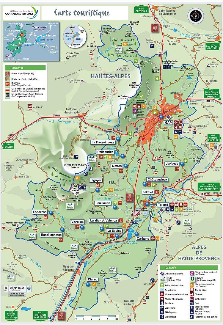 Tourist Routes | Ot Gap Tallard Vallées serapportantà Gap Sur La Carte De France