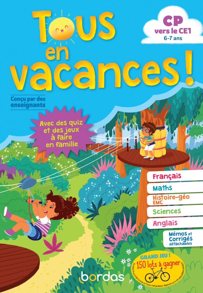 Tous En Vacances ! Du Cp Au Ce1 * Cahier D'activités/d dedans Cahier D Exercice Cp