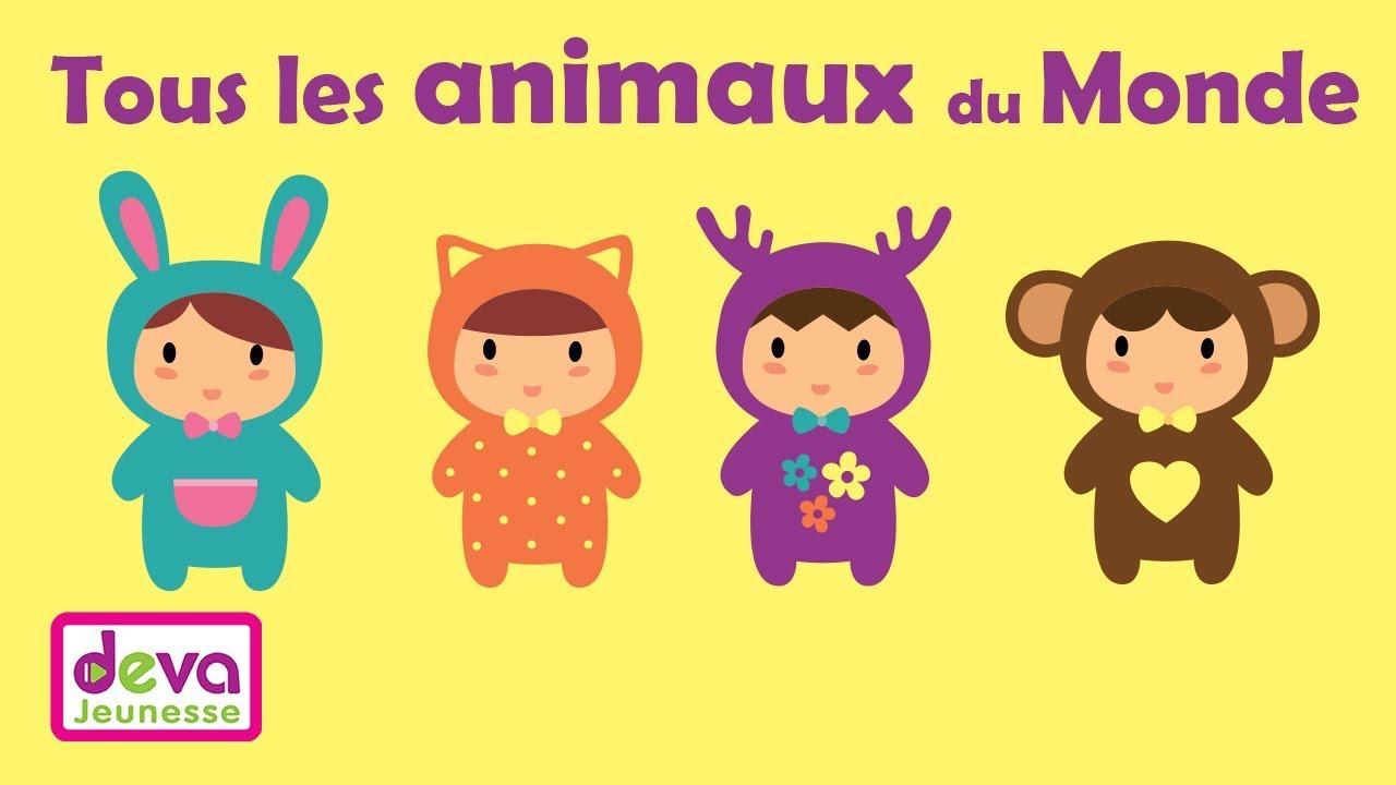 Tous Les Animaux Du Monde 🐘 (Faune, Ferme, Jungle, Domestique) Ⓓⓔⓥⓐ  Apprendre Aux Enfants tout Animaux De La Jungle Maternelle