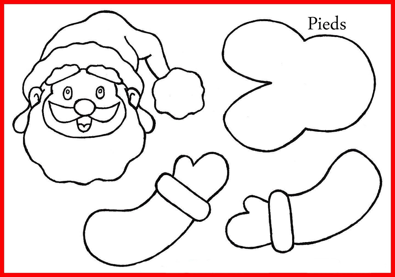 Traîneau Du Père Noël - Créamama destiné Pere Noel A Decouper