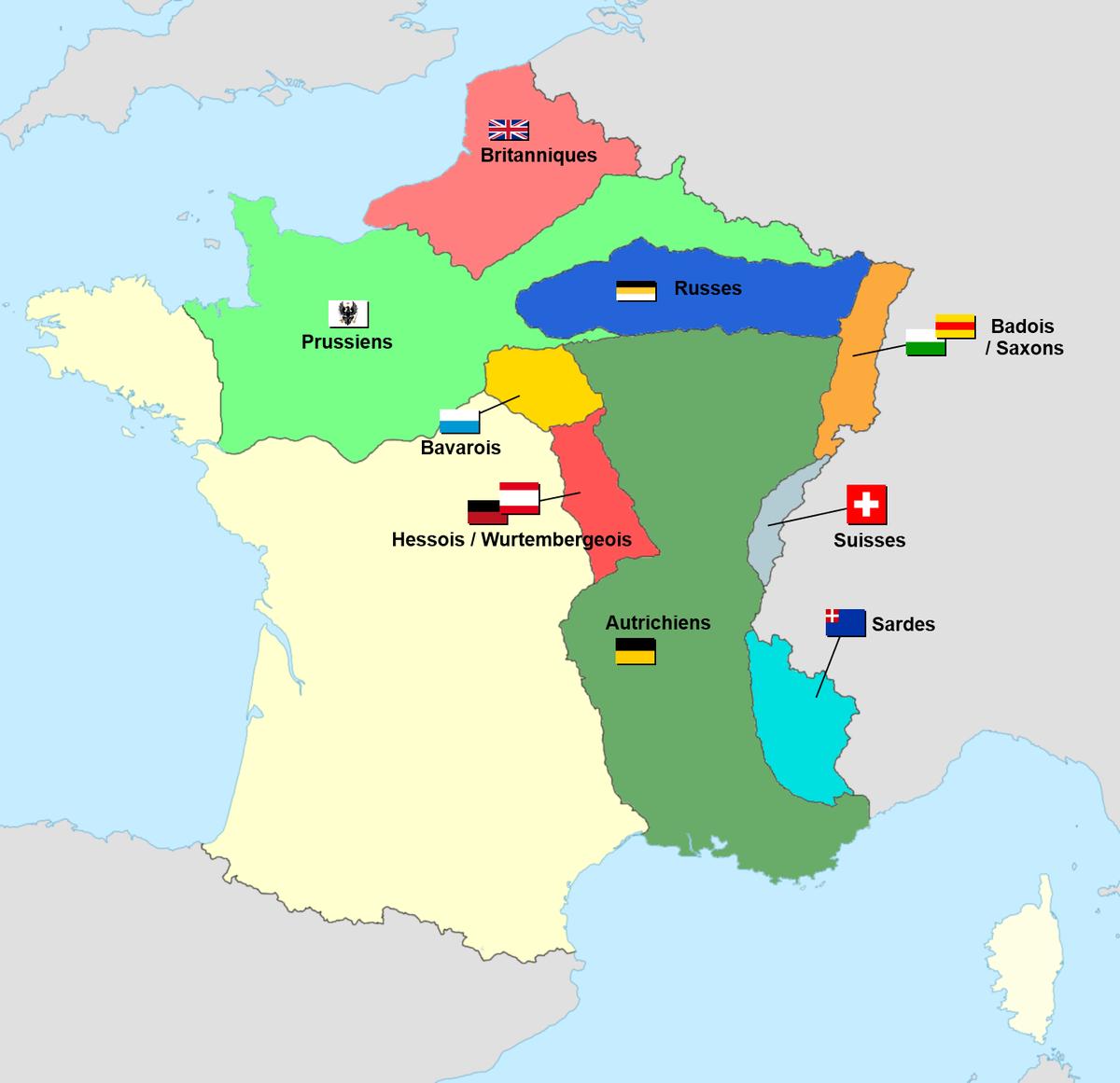 Treaty Of Paris (1815) - Wikipedia intérieur Grande Carte De France