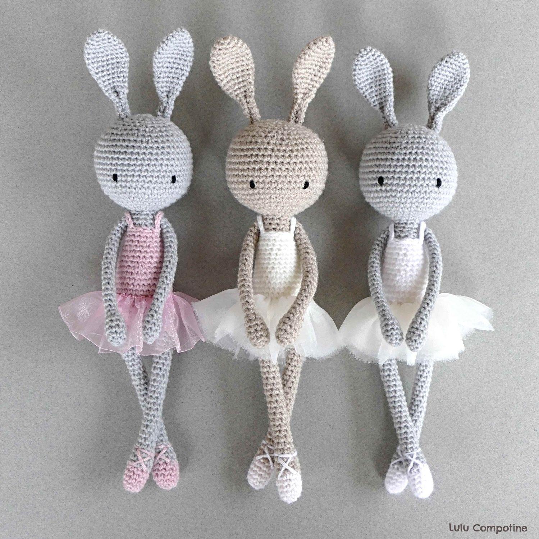 Trois Petites Ballerines Lulu Compotine | Crochet Amigurumi pour Lapin Lulu